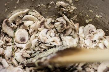 Stirring Mushrooms